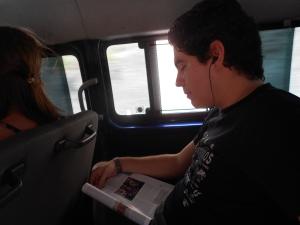 En el minibus