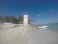 Pescando en Playa del Carmen